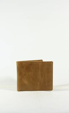 brown vintage men's wallet