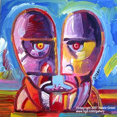 """☮ American Hippie Classic Rock Music ~ Pink Floyd . . Pop Art, """"The Division Bell"""", 14th and final album release"""