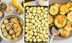 Oven Roasted Zucchini and Squash - Made To Be A Momma Zuchini And Squash Recipes, Roasted Zucchini And Squash, Roast Zucchini, Zucchini Rounds, Fried Zucchini, Baked Squash, Avocado Recipes, Veggie Recipes, Healthy Recipes