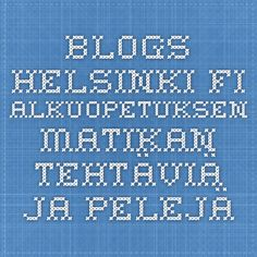 blogs.helsinki.fi - alkuopetuksen matikan tehtäviä ja pelejä
