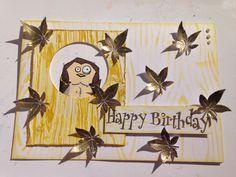 Crafters Companion Textures Embossing folder Bark, Crafters Companion Bark stencil, Crafters Companion Stamps, Tim Holtz Crazy Bird Stamps, Distress Ink