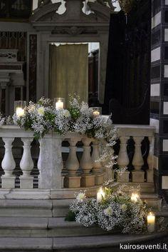 Allestimento in Chiesa. Wedding designer & planner Monia Re - www.moniare.com   Organizzazione e pianificazione Kairòs Eventi -www.kairoseventi.it  Foto Photo27 #weddingflowers