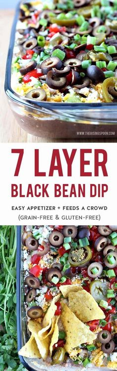 7 layer dip is an easy appetizer recipe featuring layers of simple & healthy Tex-Mex ingredients. It's quick, inexpensive, feeds a crowd, and is always the first thing to disappear at get-togethers. Serve this at your next game day party or family gathering to keep everyone full & happy without breaking the bank. | Vegetarian | Gluten-Free | Grain-Free | Real Food Recipe #sponsored #savealotinsiders #SwitchAndSave