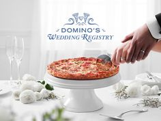 Stop Everything—Domino's Now Has a Pizza Wedding Registry Online Wedding Registry, Wedding Registry Checklist, Wedding Gift Registry, Thoughtful Wedding Gifts, Creative Wedding Gifts, Will Ferrell Wedding Crashers, Pizza Wedding, What Is Wedding, Love Pizza