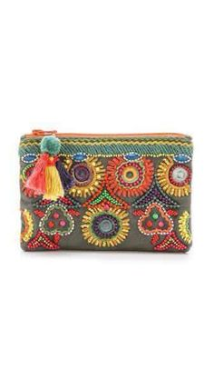 Bag Kinsey Bead purse - would love a beaded/eclectic pouch/clutch, Star Mela Kinsey handbag with beads, clutches in Women's Handbags and BagsClutch Çanta Modelleri - Best Of Likes ShareClutch Bag Models, # clutch bag construction # logclutch bag # e Beaded Purses, Beaded Bags, My Bags, Purses And Bags, Beaded Embroidery, Hand Embroidery, Pochette Diy, Diy Sac, Boho Bags