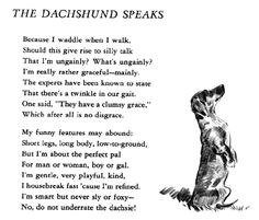 Darling doxie poem, but I may take issue with that bit about housebreaking fast...