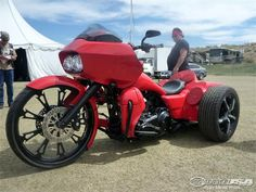 I'm not sure if this was originally a Road Glide or not...but it's cool!
