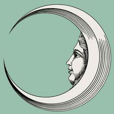Fornasetti moon. Sun Moon Stars, Sun And Stars, Piero Fornasetti, Moon Illustration, Art Academy, Moon Design, Moon Art, Vintage Images, Collage Art