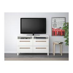 BESTÅ TV unit with drawers - Marviken white, drawer runner, soft-closing - IKEA