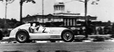 Double victory at the Grand Prix of Barcelona, Montjuich-Park, June 30, 1935. Rudolf Caracciola (start number 2) in a Mercedes-Benz formula racing car W 25. Caracciola finished in second place behind the winner Luigi Fagioli.
