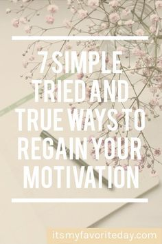 Wondering how to get motivated or trying to get your motivation back, then you will love these tips. #howtogetmotivated #howtostaymotivated #howtoregainmotivation #simplifyyourlife #simpleliving Love Your Life, Life Is Good, Finding Motivation, How To Get Motivated, Live With Purpose, How To Stop Procrastinating, Decluttering, Make Time, Simple Living