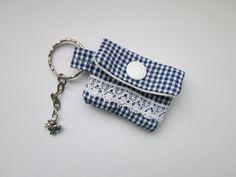 Schlüsselanhänger - Schlüsselanhänger Minigeldbörse maritim - ein Designerstück von Sillly bei DaWanda