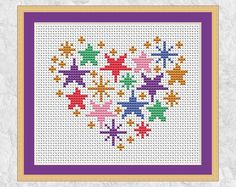 heart detail A fun and easy cross stitch pattern of a heart, inspired by Aztec designs. This pattern is also available as a cross stitch kit here: Stitch count: 53 wide x 45 high Appr Small Cross Stitch, Cross Stitch Heart, Cross Stitch Cards, Modern Cross Stitch, Cross Stitching, Cross Stitch Embroidery, Embroidery Patterns, Cross Heart, Easy Cross Stitch Patterns