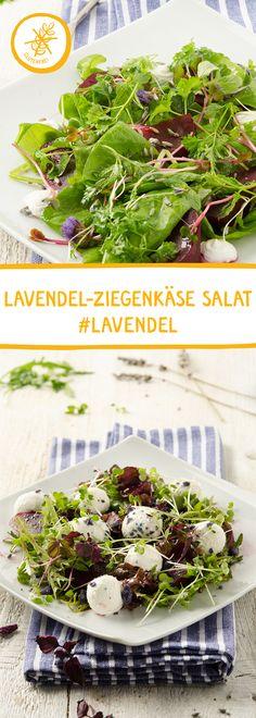 Zutaten: Ziegenfrischkäse, Lavendelblüten, Rote Rüben, Kräuter, Salat, Balsamico, Olivenöl Dauer: 20 Min. #Ziegenkäse #Lavendel #Lavendelblüten #Salatidee #Vorspeise #Tapas #Fingerfood #Salat #Salatkräuter 20 Min, Kraut, Seaweed Salad, Dressings, Tapas, Ethnic Recipes, Salad Ideas, Side Dishes, Healthy Recipes