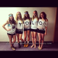 #YOLO Funny Girl Group Costume... This website is the Pinterest of costumes