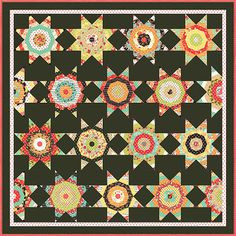 Midnight Quilt Pattern with Template  Honey Bun by Jambearies