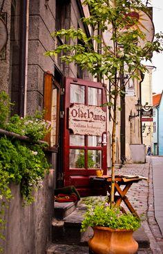 Streets of Old Town, Tallinn, Estonia