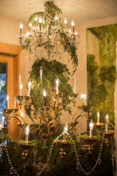 Chandelier Christmas tree via @Brittany Horton Horton Jepsen | The House That Lars Built