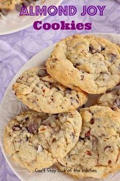 Almond Joy Cookies - Can't Stay Out of the Kitchen