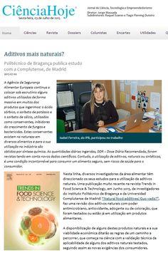 Aditivos mais naturais? Politécnico de Bragança publica estudo com a Complutense, de Madrid