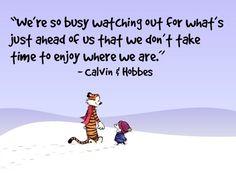 Calvin and Hobbes... So true <3