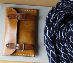 Hand Stitched Leather Buckle Wallet // Antique Tan by infusion, $55.00