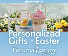 Personalization Mall – Personalized Easter Gifts – Last Chance!  They have just the cutest stuff!