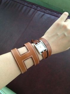 Hermes Leather Bracelet, Hermes Watch, Hermes Bags, Timeless Design, Watches, Bangles, My Style, Womens Fashion, Earrings