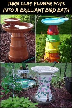 Attract Wildlife to Your Yard by Making a Bird Bath From Clay Pots