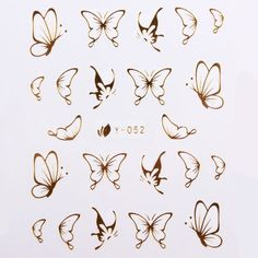 Shop Butterfly Nail Art - Great deals on Butterfly Nail Art on AliExpress Ink 102 Styles Gold Metall Hand Tattoos, 16 Tattoo, Dainty Tattoos, Tattoo Drawings, Body Art Tattoos, Small Tattoos, Simple Butterfly Tattoo, Butterfly Nail Art, Butterfly Tattoo Designs