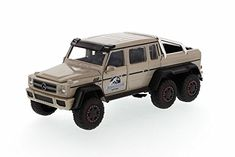 Mercedes Benz G 63 AMG 6 x 6 SUV/Pickup Truck Beige - Jada Toys 97081 - 1/24 scale Diecast Model To @ niftywarehouse.com #NiftyWarehouse #JurassicPark #Jurassic #Dinosaurs #Film #Dinosaur #Movies