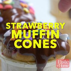 Strawberry Muffin Cones Recipe