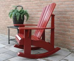 """My Grandpa Chair plan has become my best seller in the last few years, and my Customers have asked many times for a rocking chair plan in my Adirondack style. Since the Grandpa Chair is more upright, it seemed better as a rocker, than the original low profile chair.Most upper parts are the same, but the seat is now at 14 1/2"""" (36.83 cm) off the ground, typical of most rockers. This allows the average height person to rock with feet flat on the ground. I copied a rocker from an old large..."""