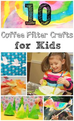 Simple preschool crafts from coffee filters.