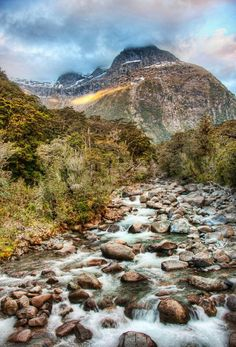 A Gentle Stream Through New Zealand. #Milford_Sound from #treyratcliff at http://www.StuckInCustoms.com - all images Creative Commons Noncommercial