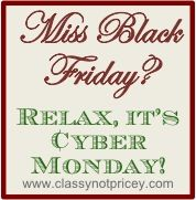 One-stop list of the great Cyber Monday sales going on today!  So helpful!!