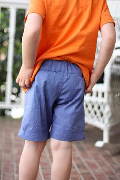 Growing Home: Basic Boy Shorts (w/ FREE Pattern!)