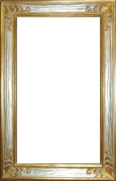 silver and gold: one-of-a-kind solid wood frame, hand-carved & finished. designed by Maria @FrameWorx. stunning! perfect frame for a mirror. FOR SALE