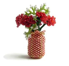 How To Make Beaded Flower VaseDIY Fiower Vase