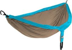 Eno DOUBLE NEST  Hammock teal/khaki color... heavy duty straps that hold 400 lbs