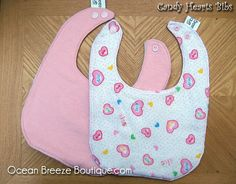 Candy Hearts  Baby Bib by oceanbreezeboutique on Etsy, $5.00