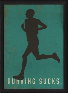 Running Sucks I Framed Graphic Art
