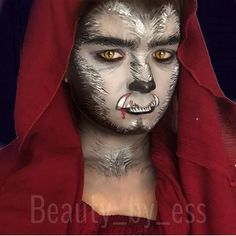 Wolf Lycan Makeup Ideas | This is a GREAT wolf makeup face. It\'s ...