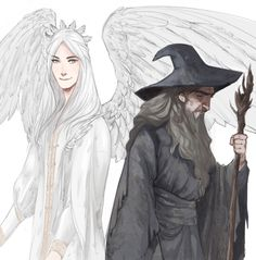 Olorin/Gandalf. Olórin, being the wisest of Manwë's maiar, was sent to aid the last of the free peoples of Middle Earth in the third age. He was sent in the form of an old man wizard, who was called Gandalf.