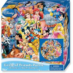 "Wonderful World of Disney Puzzle 150-Piece - Circle of Friends - Cardinal Industries - Toys ""R"" Us"