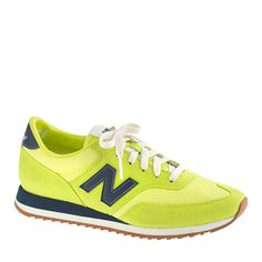 I want the hell out of these!! Women's New Balance® for J.Crew 620 sneakers in Neon Citrus $80