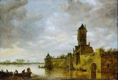 Van Goyen, a Castle by a River, 1647