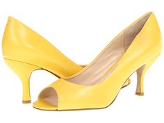More cute yellow shoes from Nine West. Quinty Yellow Leather - Peep Toe @ Zappos.