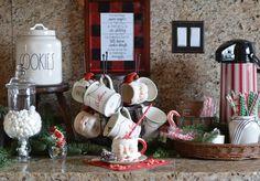 Hot chocolate bar Christmas Home Tour::The Pink Tumbleweed