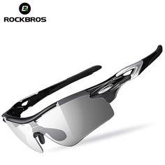 e328c10a17 ROCKBROS 2 In 1 Cycling Bicycle Glasses Polarized Photochromic With Myopia  Frame Sunglasses UV400 Sports Bike